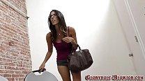 Brunette babe rides bbc