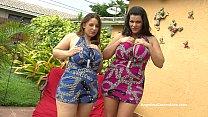 Angelina Castro & Lexxxi Lockhart Big Titted BJ Outside!