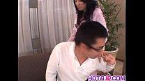 Chris Ozawa uses her tight pussy to smash a big...