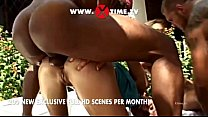 Interracial orgy at the pool directed by Rocco Siffredi