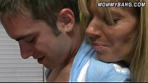 Busty stepmom Kristal Summers 3way sex with Avrill Hall