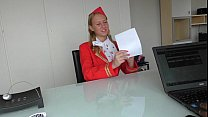 Dumb Russian Teen Air Hostess creampied at fake...