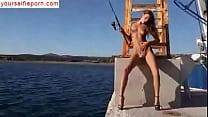 Maria Ryabushkina naked on the sea