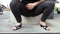 31 desperation female wetting lycra & Spandex