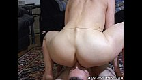 Naked oldie mistress is pleasured as she gets h...