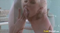 Fabulous Cindy Dollar masturbates with her tight buns