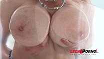 Busty babe Suzie Sun oiled up & assfucked by 3 ...