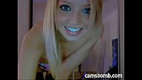 cam on masturbation and striptease teen Blonde
