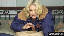 Blonde MILF Charlee Chase Winter Jacket Blowjob!