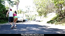 TheRealWorkout - Busty Ebony Fucked By The Fitn...