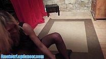 Gorgeous lapdancer does hot blowjob