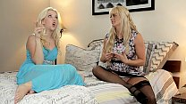 Samantha Rone's pussy licked out by her step mom Holly Heart