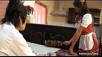 Thai maid getting boned and creamed by her boss