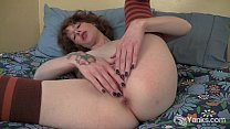 Redhead Staci Fisting Her Snatch