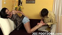 I will wiggle my toes for you while you jerk off JOI