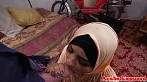 Dickriding ethnic arabian hottie tastes jizz