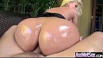 Anal Hardcore Sex With Big Curvy Oiled Butt Slu...