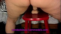 Candeeboxxx fucks her Dildo on a stool