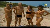 Mulher samambaia praia de nudismo HD