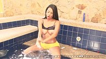 Christina Ramos toying herself in the jacuzzi
