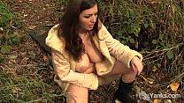 Lovely Amateur Amber Masturbates Outdoors