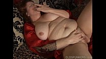 Beautiful big belly & boobs mature BBW fucks her soaking wet pussy