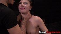 Slut gets dick jammed