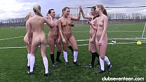 Lustful sport lesbians masturbating