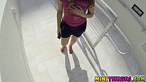 Beating Courtney in a public bathroom