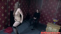 Stripping sub punished with analfingering