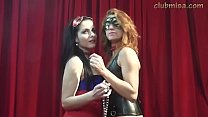 Dominant MILF Misa has backstage fun with teen newbie