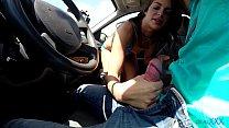 Very young tiny teen rides cock to facial