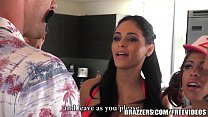 Brazzers - Four Latina babes have there way wit...