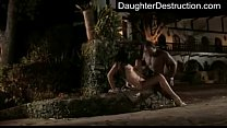 Young teen daughter