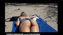 blonde 19 years old teen nudist