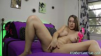 Busty Teen Kimber Lee cums with New