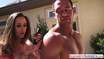 Sexual Ashley Adams swallow jizz outdoors