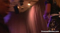 Stunning blonde stripping and dancing