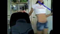 Teen spread ass on webcam.