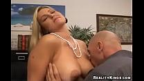 Tits licking
