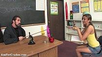 Slutty Schoolgirl Fucks Her Teacher For Good Gr...
