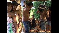 Safadas do brasil fazendo churrasco e orgia