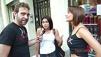 Brunnette threesome casting fuck blowjob - Sandra Red - Mar Durán