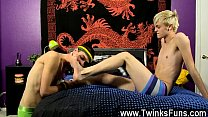 Hot twink scene Collecting some splooge to wank himself to a finish,