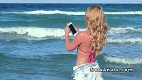 Blonde Girlfriend In Bikini Gets