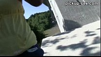 Amateur Czech girl Gabrielle banged and jizzed on outdoor