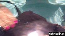 Charlee Chase Sucks Cock Underwater