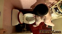 Naked gay solo danish man With cocks squirting out pee into the bowl,