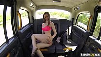 Teen Stella Cox caught masturbating by cab driver