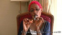 Miss Fifi SMOKES a cigar